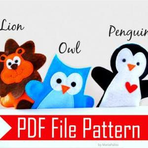 PDF Sewing Pattern for Lion, Owl an..