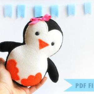 Baby Penguin Sewing pattern - PDF e..