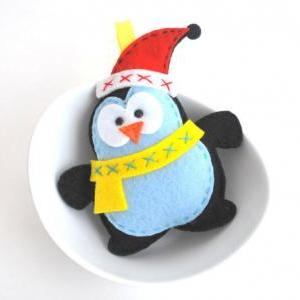Felt Penguin Christmas Ornament Sew..
