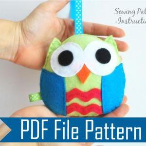 Owl PDF Sewing pattern , Kids craft..