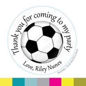 Soccer stickers Party Personalized ..