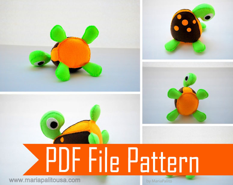 BABY Turtle Sewing Pattern - PDF EPATTERN & Instructions A507 on Luulla
