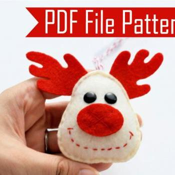 Holiday Reindeer Christmas Ornament Sewing pattern - PDF ePATTERN A657
